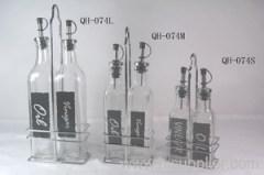 glass oil vinegar bottle