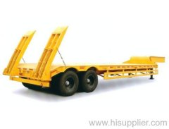 2 axles Low Flatbed Semi Trailer