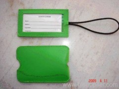 soft leather Luggage Tag