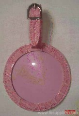soft round pvc Luggage Tag set