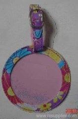 lovely round pu baggage Tag