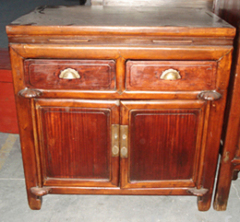 Chinese antique cabinet with 2 doors and 2 drawers