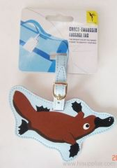 soft animal Luggage Tag