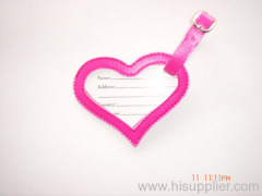 Pretty PVC Luggage Tag