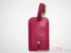 leather PU luggage tag