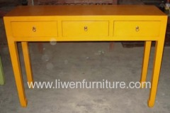 Ancient yellow side table