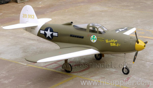 Giant scale RC model plane ARF P-39