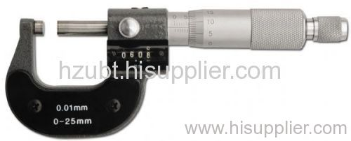 Mechanical counter digit micrometer gauge measuring hand tools