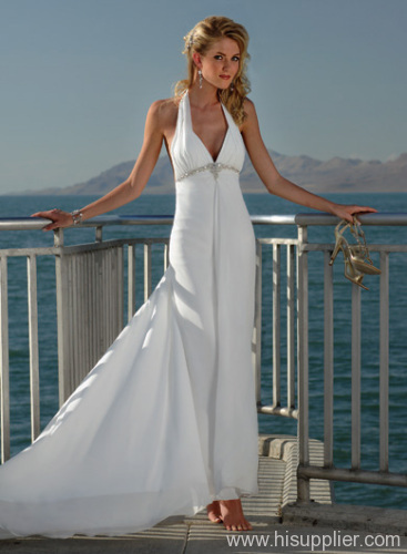 Perfect Halter Beach Wedding Dresses 2012