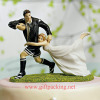 """A Love Match"" Rugby Couple Resin figurines"