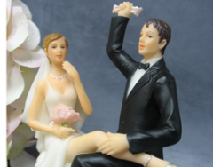 """Garter Victory"" Cake Topper Figurine"