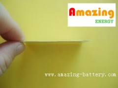 ultra-thin polymer 0.4mm rechargeable and non-chargeable batteries for card