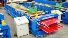 Roofing panel forming machine