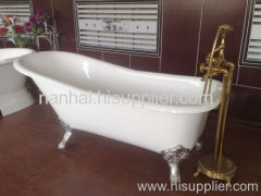 Cast iron slipper tubs