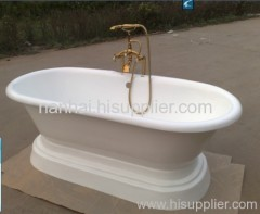 double ended bath with pedestal
