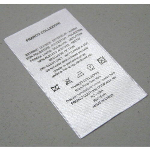 Fabric Care Label From China Manufacturer Hangzhou
