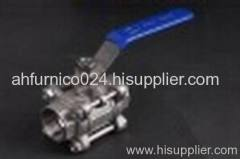 Puyue Three Pieces Forging Steel Ball Valves