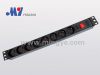 PDU socket with switch and children protectors