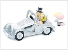 Wedding Get-A-Way Car Figurine wedding cake toppers
