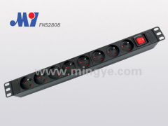 19 inch French PDU with switch