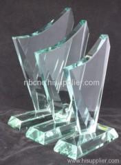 jade glass trophy