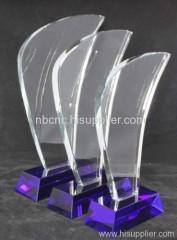 glass trophy blue trophy