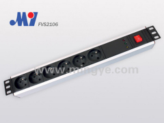 "6 ways,19""1.5U standard French PDU socket"