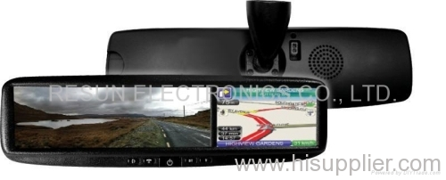 4.3 inch Car Rearview Mirror LCD Touch Screen GPS Navigation