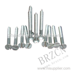 countersunk head wood screw with slot