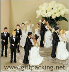 Ethnic Interchangeable Brides & Grooms Cake Toppers