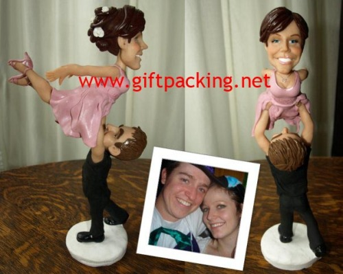 polymer clay - funny wedding cake toppers