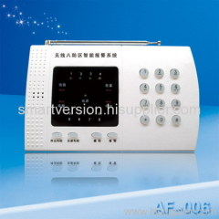 Zone alarm system with LED display