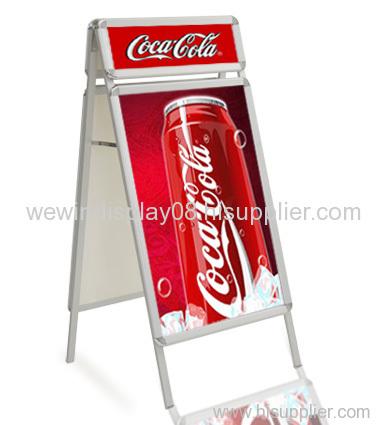 Poster stand,poster frame,A board,A frame,sidewalk sign,sign frame,pavement signs,poster holder,menu holder,sign board