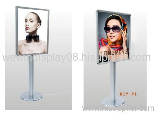 Standing lightbox,poster display,poster stand,snap frame display,floor poster stand