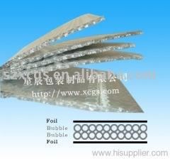 Aluminized bubble heat insulation