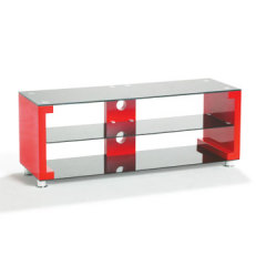 Wooden & Tempered Glass TV Stand