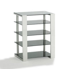 Wooden and Tempered Glass TV Stand for 32