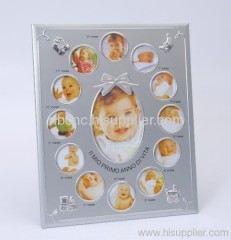 metal picture frame for baby
