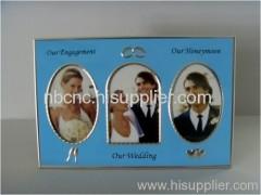 blue aluminum photo frame