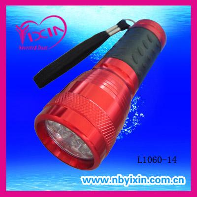 14 LEDs aluminum anodized flashlights