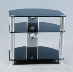 Black Tempered Glass TV Stands