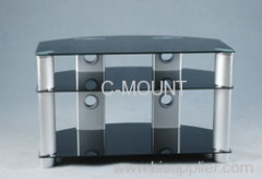 Black Tempered Glass LCD Plasma Stand