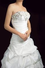 silky taffeta bridal gown