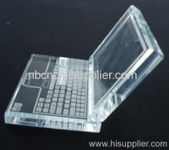 crystal glass laptop
