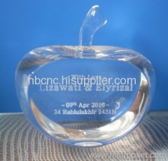 2d laser crystal apple