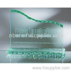 glass figurines with 2d engraved