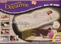 Dreamie Ivory Sateen Sheet & Pillow Pocket