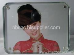crystal glass photo frame