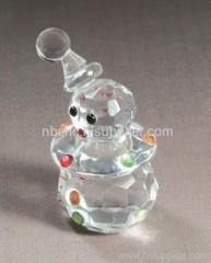 lovely crystal snowman