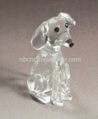 lovely crystal dog